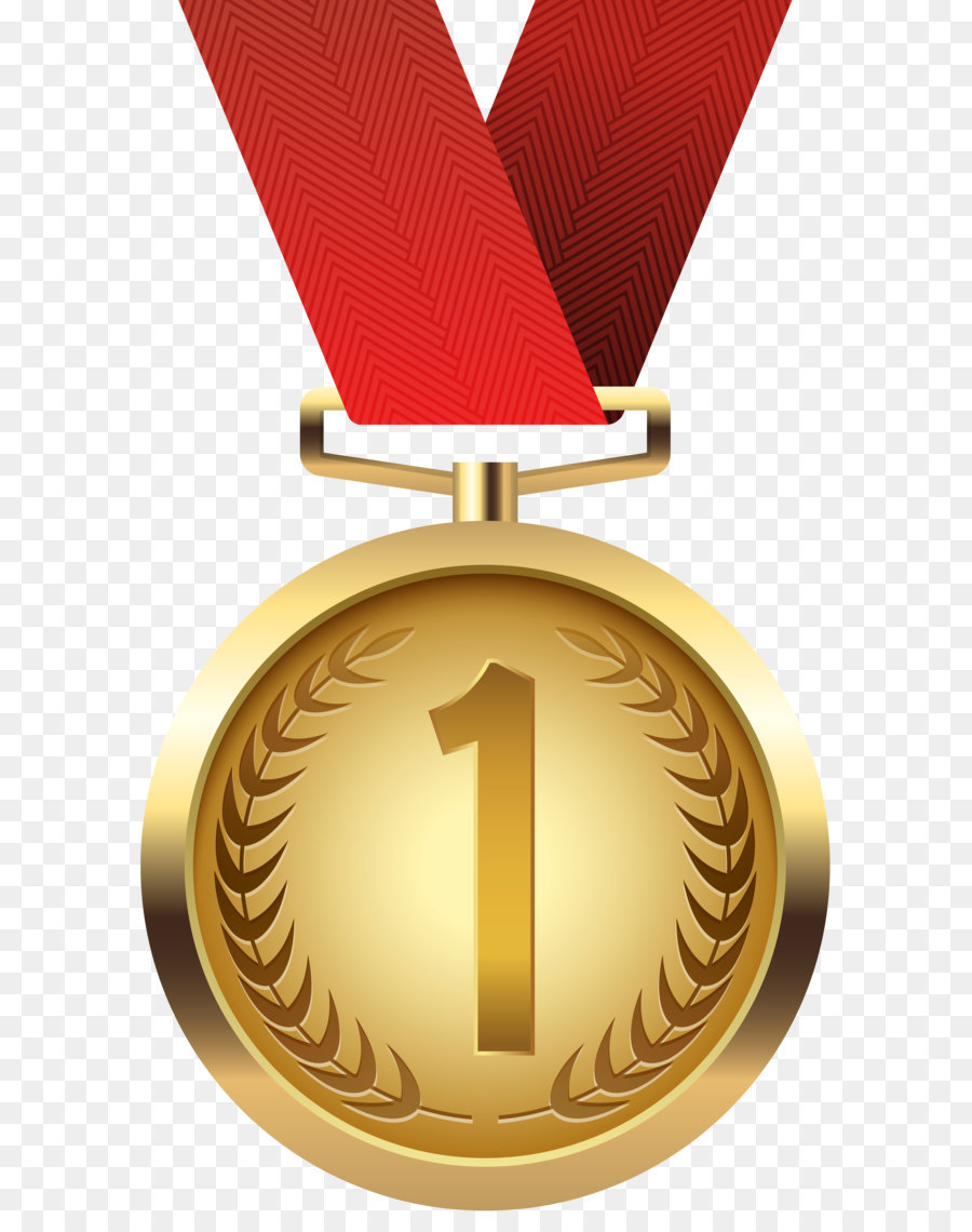 1 clipart medal. Gold clip art png