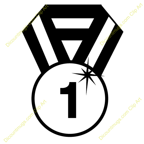 Black and white station. 1 clipart medal