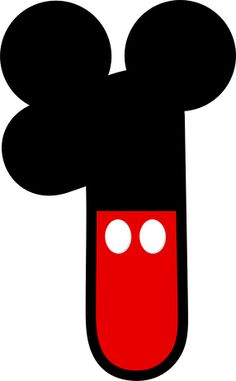 Instant download inspired numbers. 1 clipart mickey mouse
