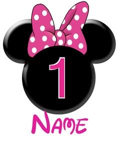St birthday clip art. 1 clipart minnie mouse