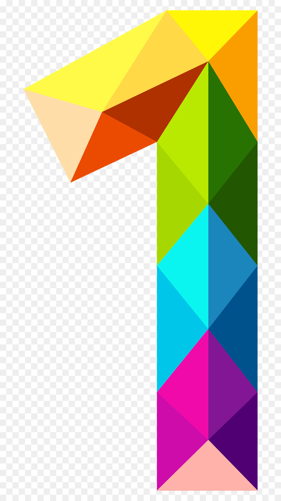 Number triangle clip art. 1 clipart numeral