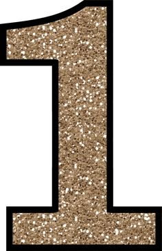 Glitter without the mess. 1 clipart numeral