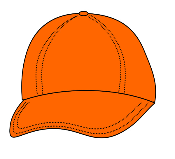 Orange hat . 1 clipart object