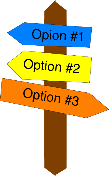 Small sign post clip. 1 clipart option