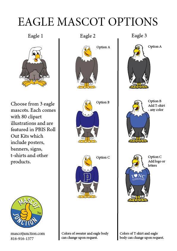 1 clipart option. New eagle mascot clip