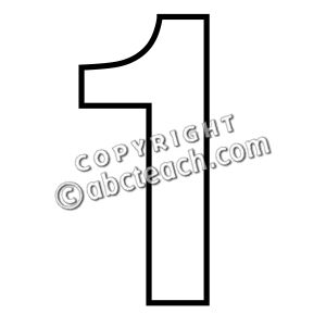 Free cliparts download clip. Number 1 clipart outline