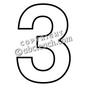 1 clipart outline. Best photos of number