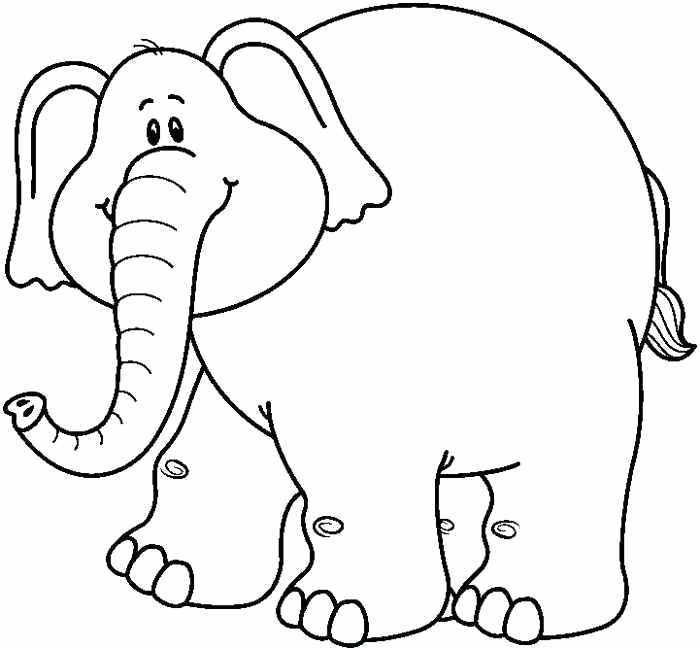 1 clipart outline. Elephant clip art black
