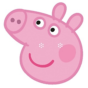 Peppa mask pc party. 1 clipart pig