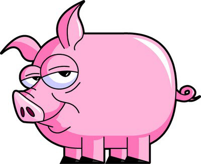1 clipart pig. Smiling it s another