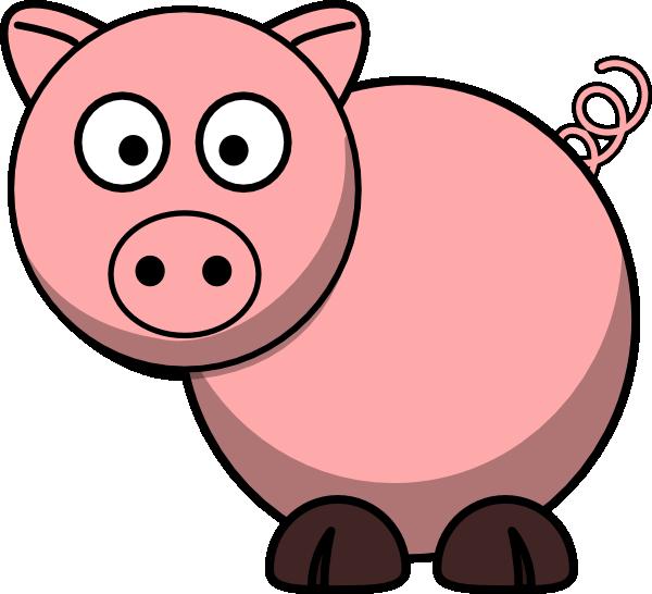 1 clipart pig. Cartoon