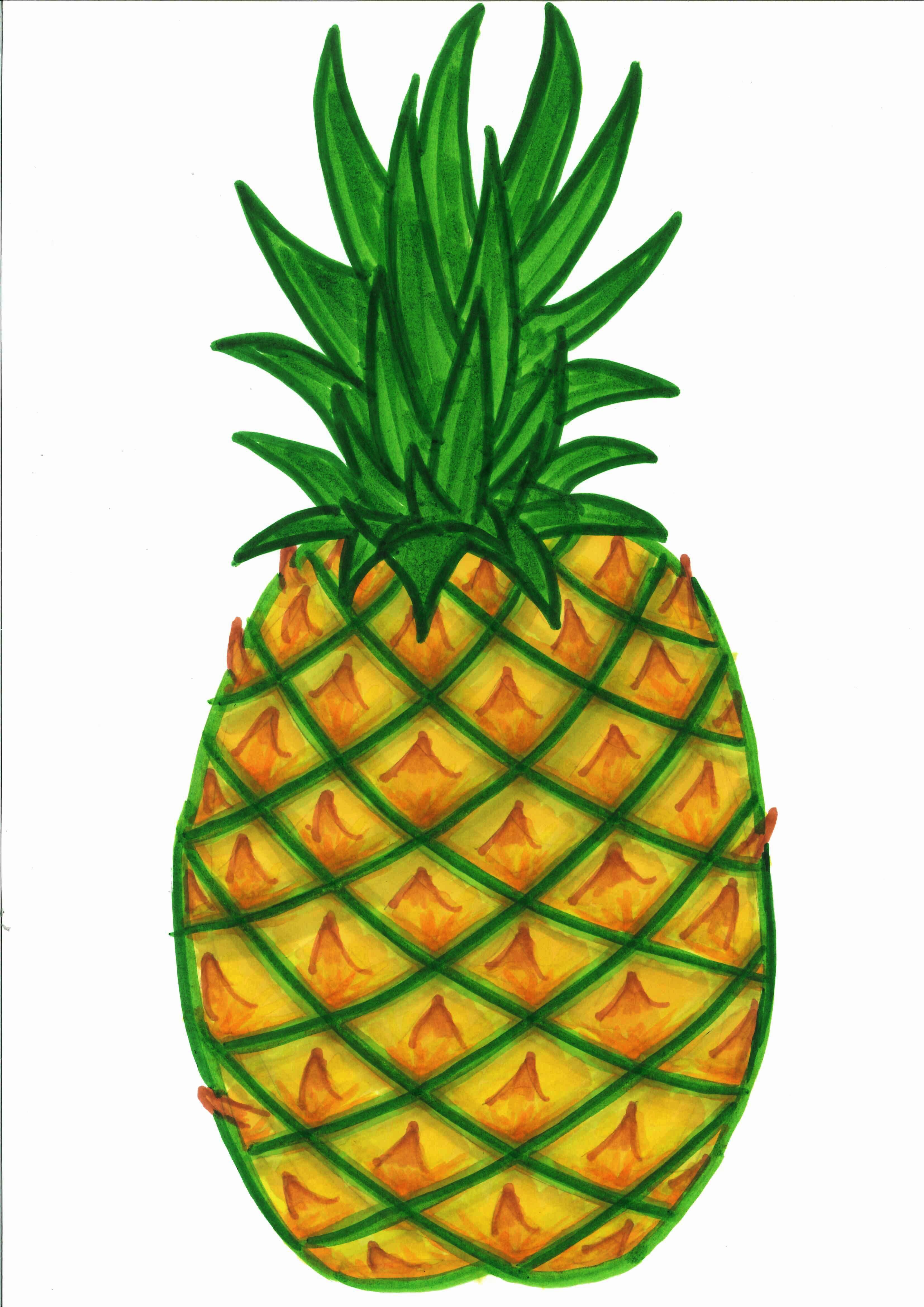 1 clipart pineapple. Fruit