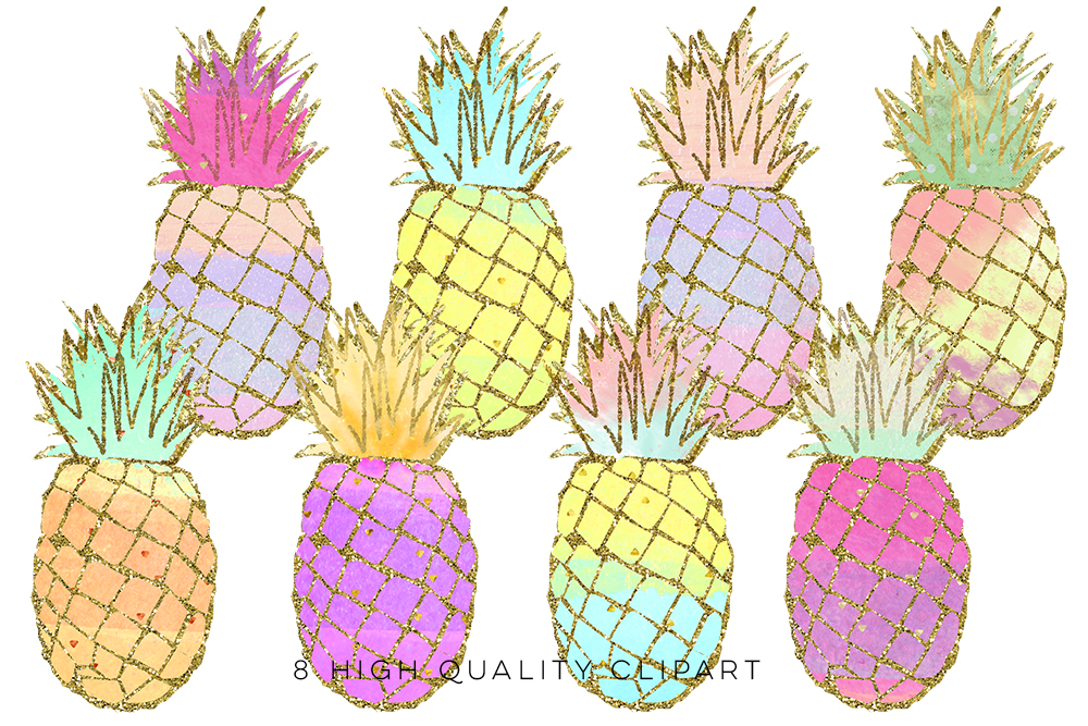 Clip art gold pineapples. 1 clipart pineapple
