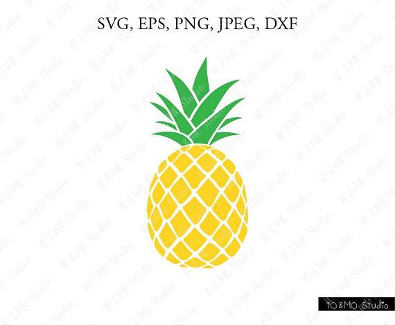 1 clipart pineapple. Svg print