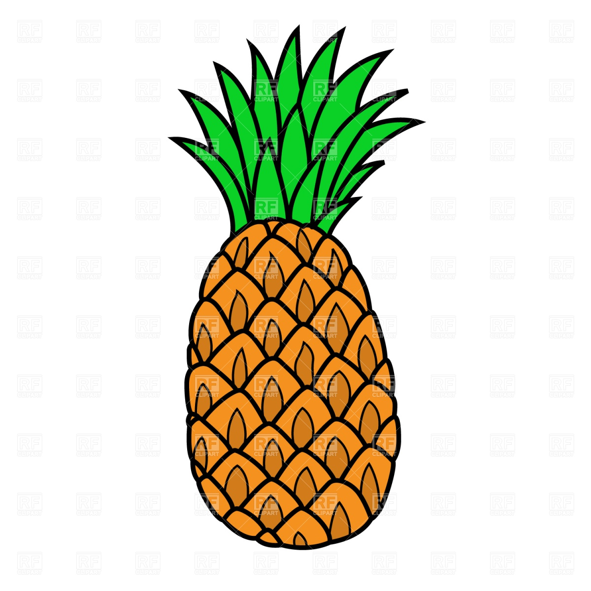 Free . 1 clipart pineapple