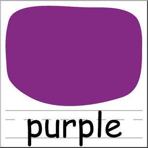 1 clipart purple. Clip art colors i