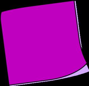 1 clipart purple. Post it notes