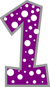Free number cliparts download. 1 clipart purple