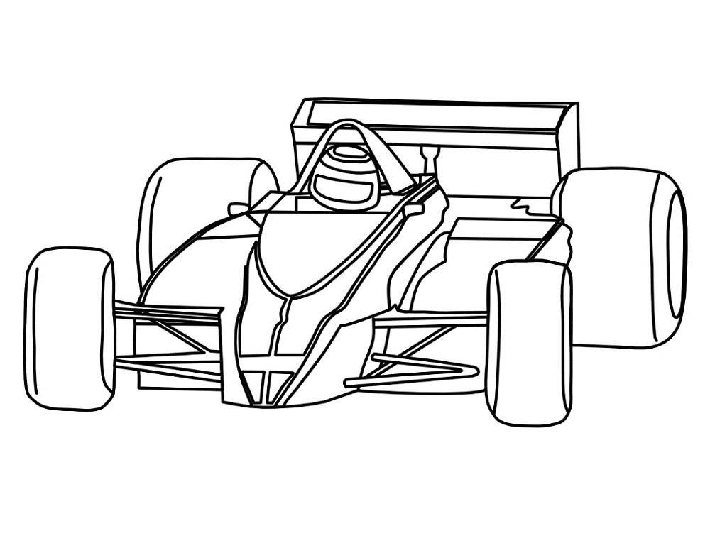 1 clipart race car. Drawing at getdrawings com