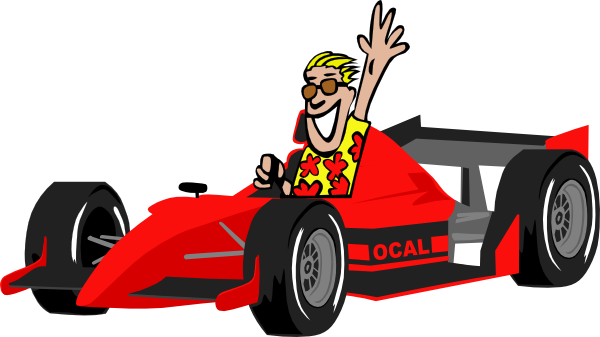 1 clipart race car. Driver