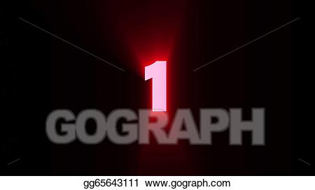 1 clipart red 1. Stock illustration illustrations gg