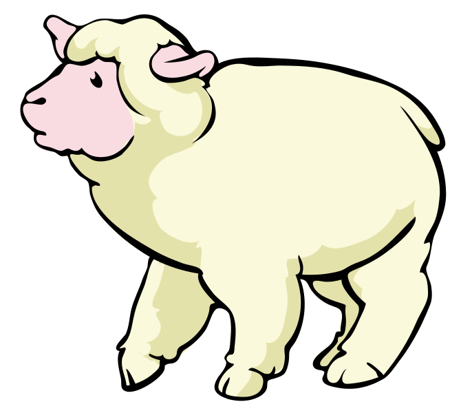 1 clipart sheep. Public domain