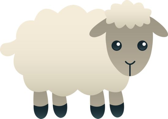 Lamb black and white. 3 clipart sheep