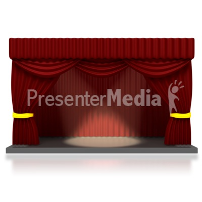 1 clipart stage. Theater with spotlights home