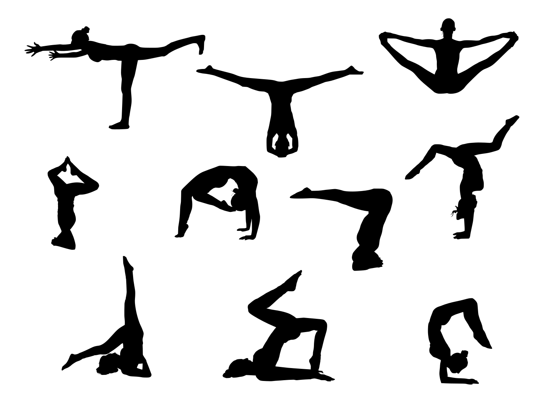 1 clipart transparent.  yoga silhouette png