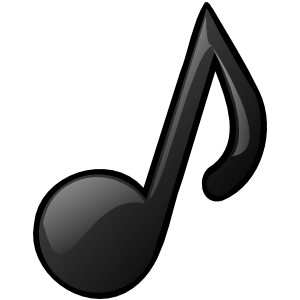 1 clipart transparent. Music note background free