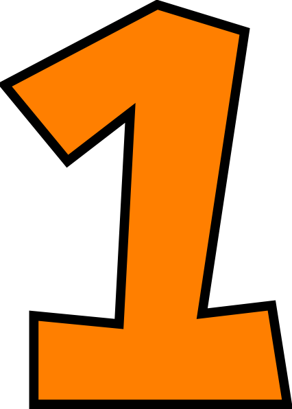 Number 1 clipart. Transparent png pictures free