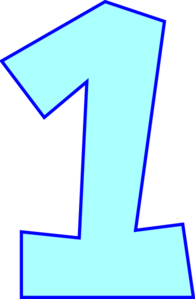 collection of number. 1 clipart transparent