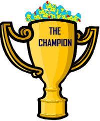 1 clipart trophy. Champion