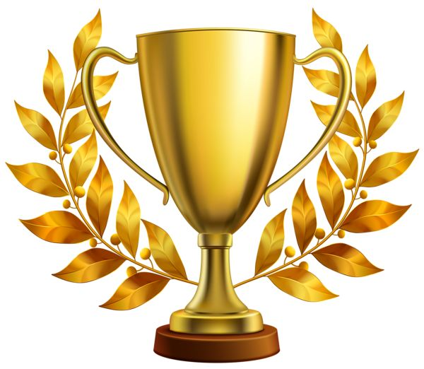 Trophy station . Award clipart first place