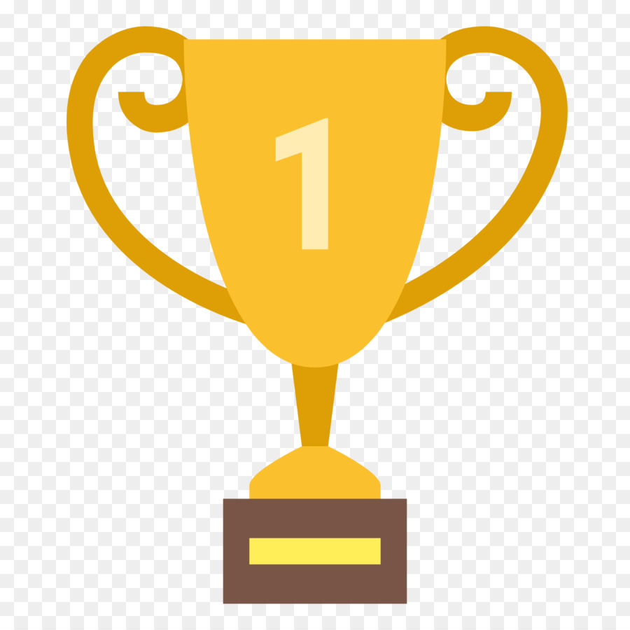 1 clipart trophy. Gold cup award medal