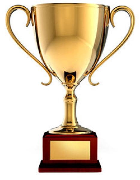 Award clipart trophy. Cup free vector panda