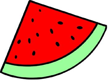 Slice station . 3 clipart watermelon