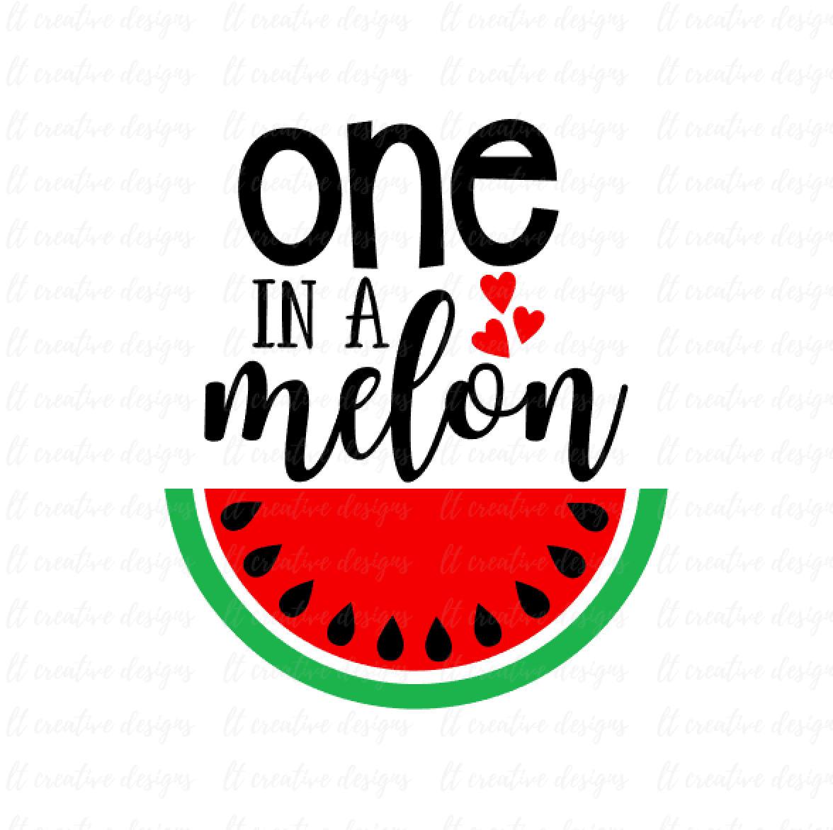 One in a melon. 1 clipart watermelon