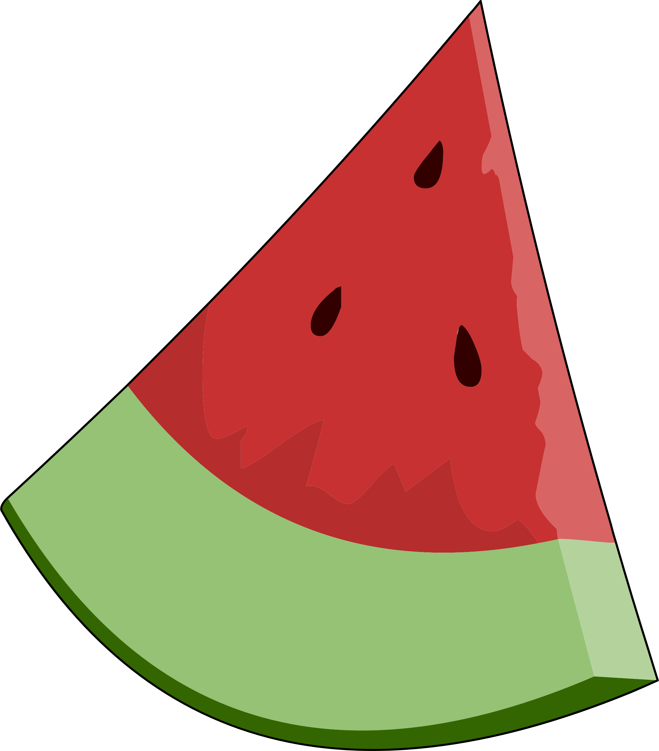 Slice wedge big image. Clipart fruit watermelon