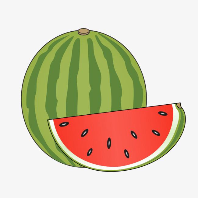 1 clipart watermelon. A cartoon one png