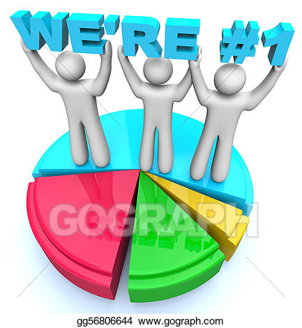 Number one market share. 1 clipart we re