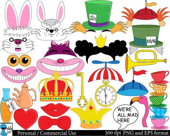 1 clipart we re. Mad hatters tea party
