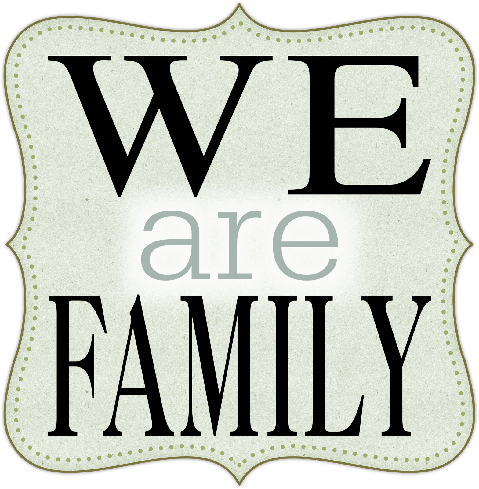 We are family panda. Words clipart dad