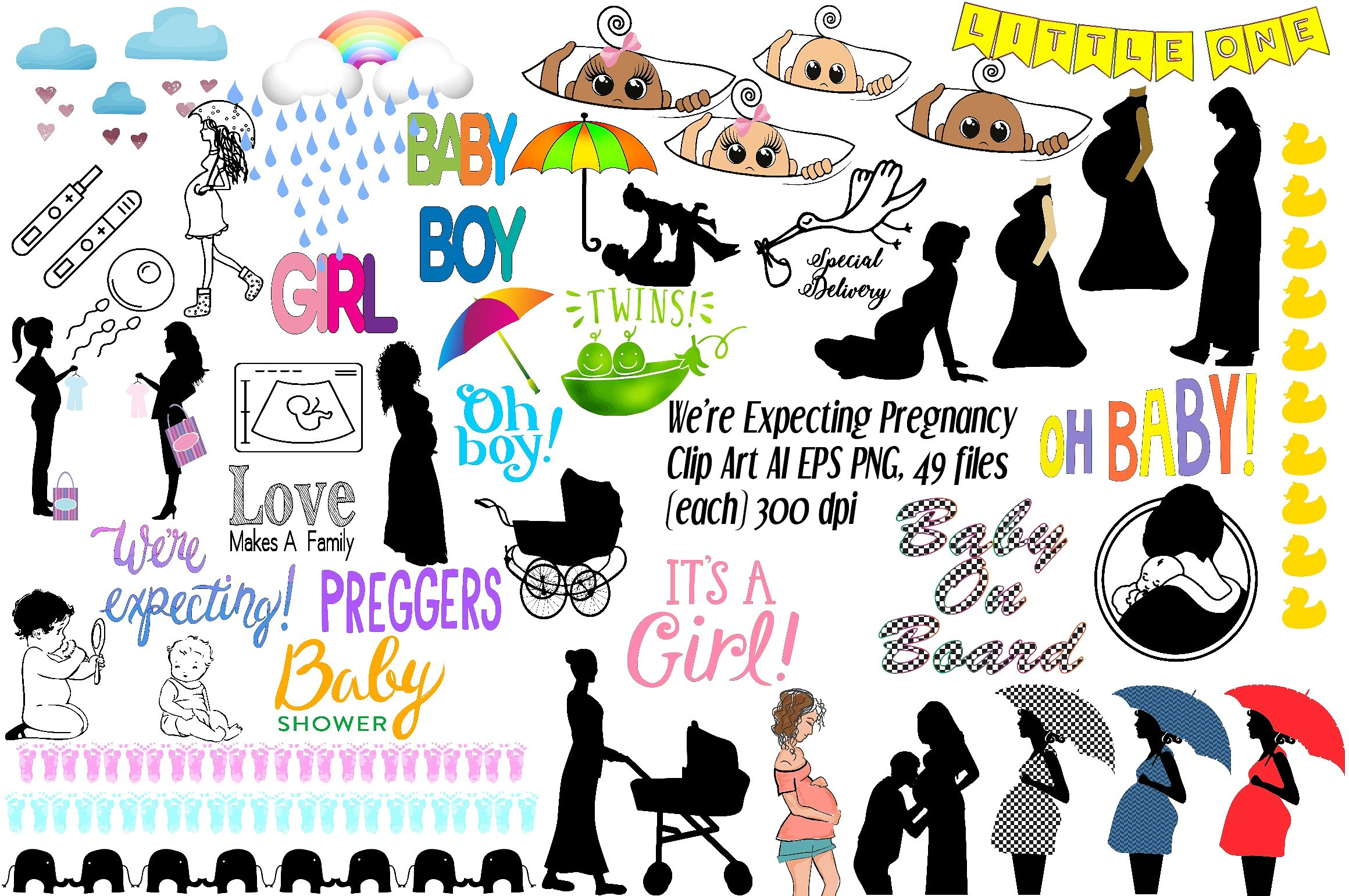 1 clipart we re. Expecting pregnancy ai eps
