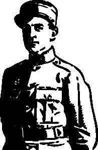 1 clipart world war. Officer clip art at