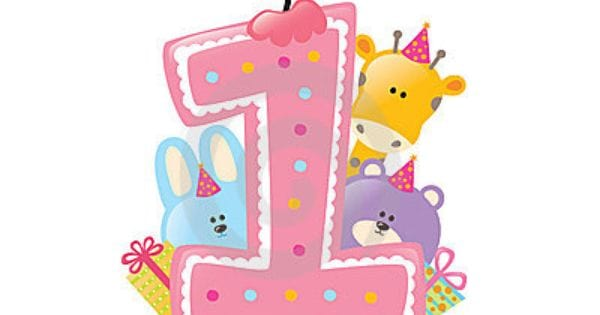 1 clipart year old. Happy st birthday images