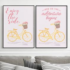Spring bicycle set with. 1 clipart yellow