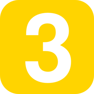 1 clipart yellow. Number