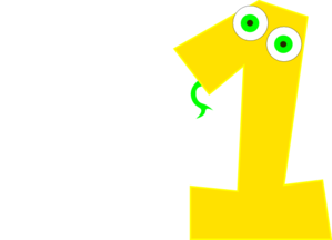 Number one clip art. 1 clipart yellow