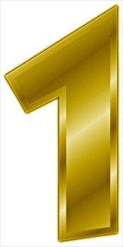 Free gold number graphics. 1 clipart yellow